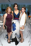 Anna Kendrick, Emmy Rossum and Emma Roberts posed together at a Persol event in New York on July 11.