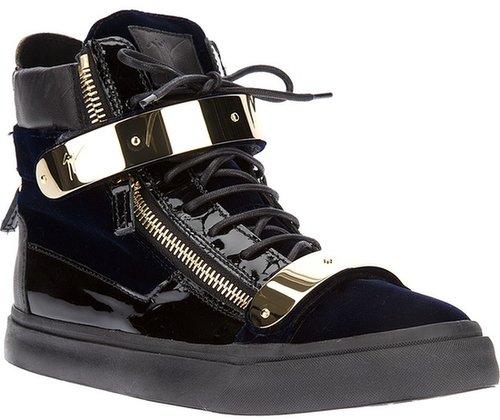 Giuseppe Zanotti Design bi-colour hi-top sneaker