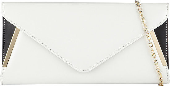This ALDO Bergeron clutch ($40) makes a very chic grab-and-go purse.