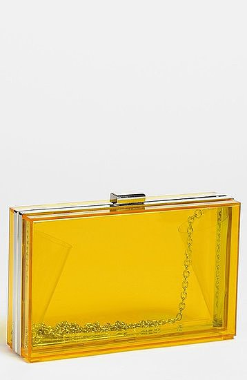 Get in on the Lucite trend with this Expressions NYC clear box clutch ($48).