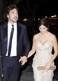 Javier Bardem held onto Penélope Cruz's hand during a fancy outing in Cannes in May 2010.