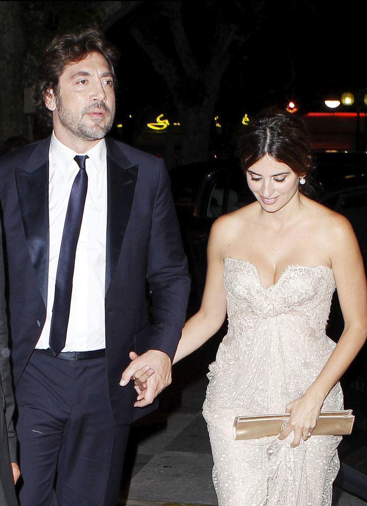Javier held onto Penélope's hand during a fancy outing in Cannes in May 2010.
