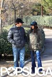 Penélope Cruz and Javier Bardem chatted during a walk in their hometown of Madrid in January 2013.