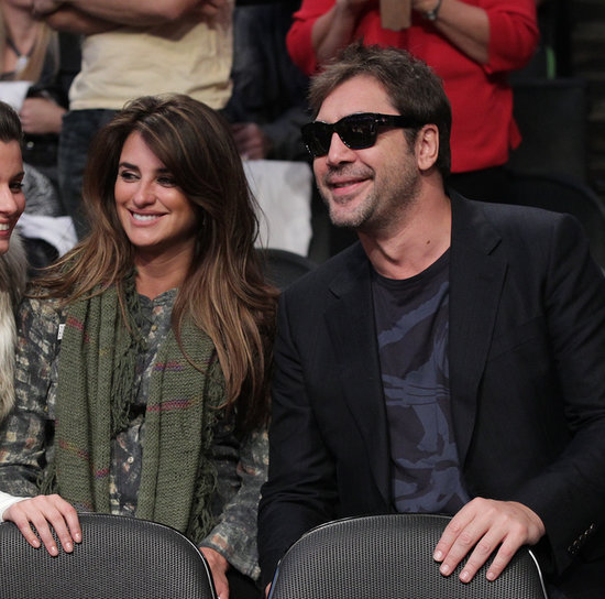 In December 2010, Penélope Cruz and Javier Bardem shared smiles during a Lakers game in LA.