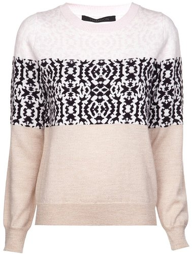 Thakoon abstract pattern sweater