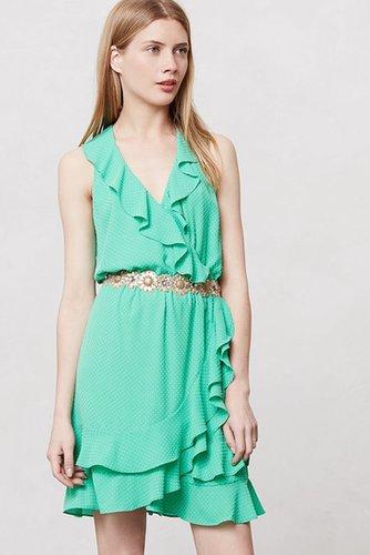 Pindot Ruffle Dress