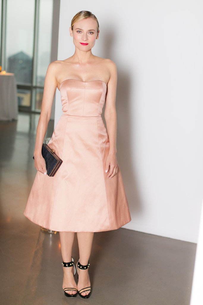 Diane Kruger's tea-length pastel creation and red lip combo emitted a ballerina-gone-bad excitement at a Jason Wu Summer soiree — and we love it!  Source: David X Prutting/BFAnyc.com