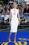 Rosamund Pike mastered white-hot — albeit with a few key pops of color — in Victoria Beckham at the world premiere of The World's End.