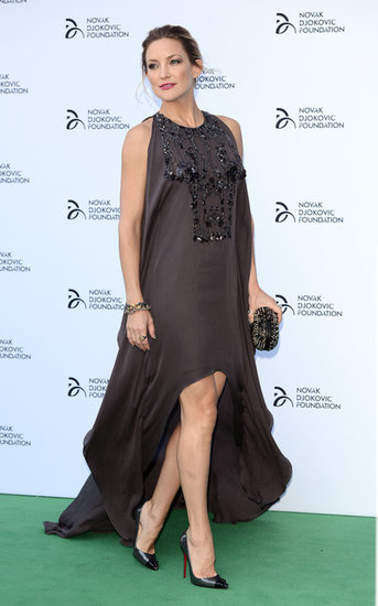 Kate Hudson glowed in Elie Saab at the Novak Djokovic Foundation London gala dinner.