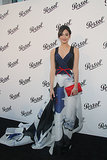 Emmy Rossum rocked the red carpet in a little red, white, and blue Carolina Herrera number at the Persol event in NYC.