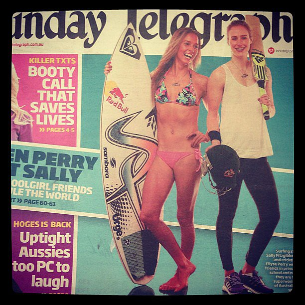 Nothing like a bit of Sunday morning fitness inspiration, in the form of Aussie sportswomen Sally Fitzgibbons and Ellyse Perry, who we interviewed back in May.