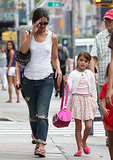 Katie Holmes and Suri Cruise Beat the Heat in NYC
