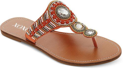 XOXO Shoes, Rasel Flat Thong Sandals