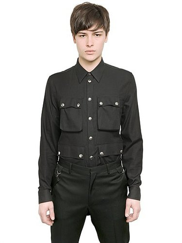 Cotton And Wool Twill Shirt