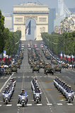 People watched the Bastille Day parade in Paris.