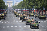 The French army paraded down the Champs-Élysées.