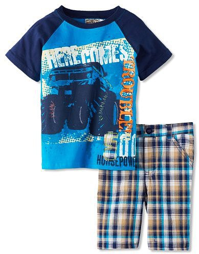 Little Rebels Boys 2-7 Two-Piece Here Comes Trouble Short Set