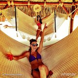 Nina Dobrev squeezed in much-needed hammock time. Source: Nina Dobrev on WhoSay