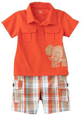 JUST ONE YOU® Made by Carters Infant Boys' Short Set - Orange/Khaki