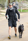 Orlando and Flynn hiked with their dog Sidi in Runyon Canyon in LA in Dec. 2012.