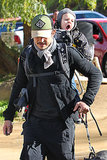 Orlando carried Flynn on his back during a hike in Runyon Canyon in LA in Dec. 2012.