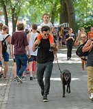 Orlando spent time with Flynn and his adopted dog Sidi in Central Park, NYC, in July 2013.
