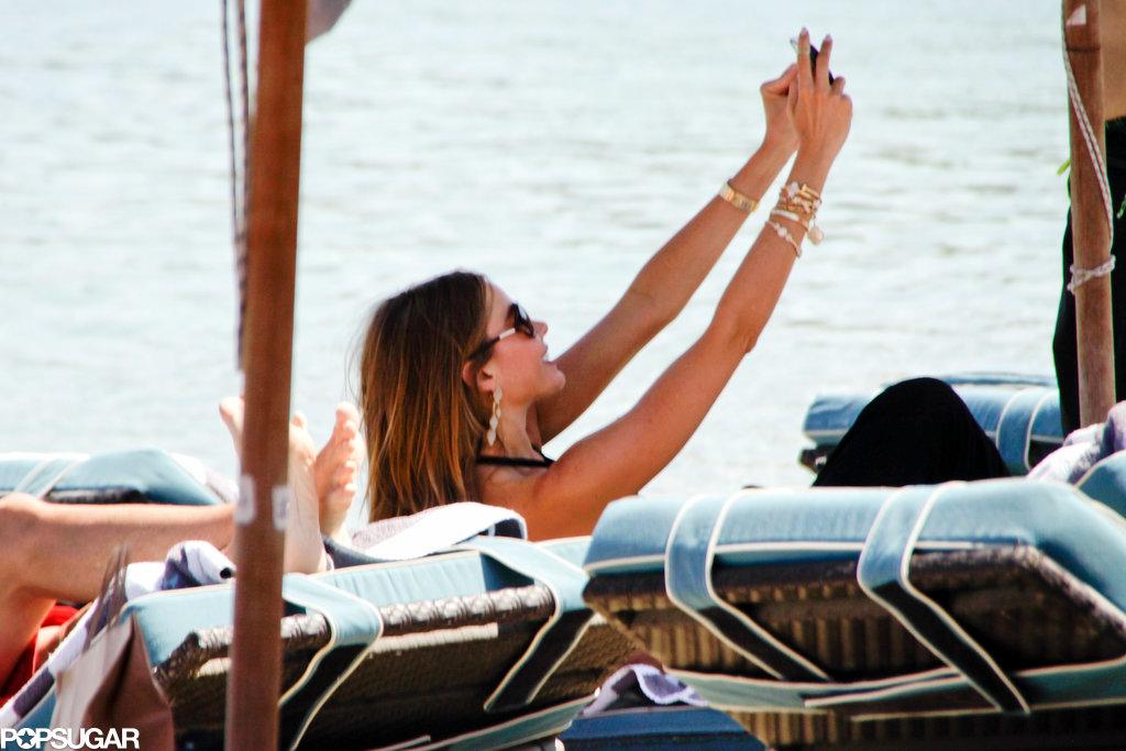 Sofia Vergara Mixes It Up in Greece