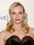 Red lipstick and Marcel waves made a stunning combination for Diane at this year's Critics' Choice Television Awards.