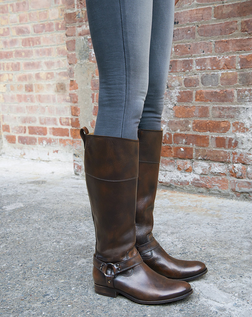 Score a pair of Frye's classic knee-high lea