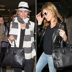 Kate Moss Wears Saint Laurent's Classic Sac De Jour Bag