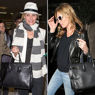 Celebrities in Saint Laurent Classic Sac De Jour Bag
