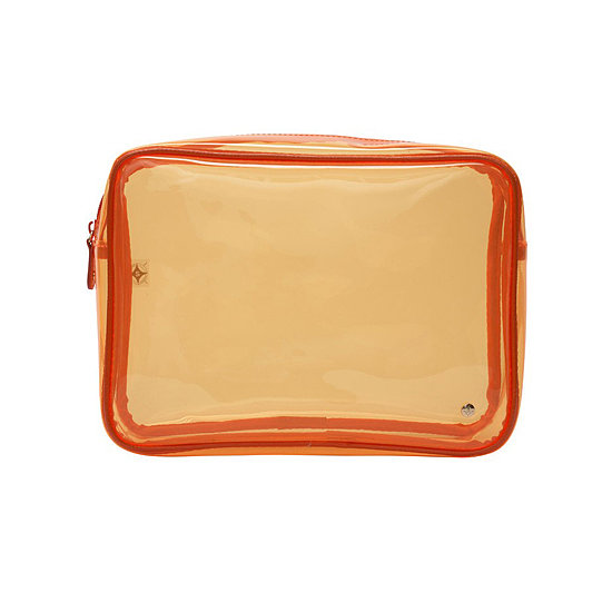 The bright orange color adds excitement to this Stephanie Johnson Miami Jumbo Zip Case ($46), which is sturdy enough to keep your favorite beauty buys from getting smashed in cargo.
