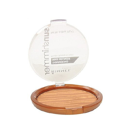 With a slight shimmer, Rimmel Sun Shimmer Maxi Bronzer ($8) gives a perfectly radiant glow.