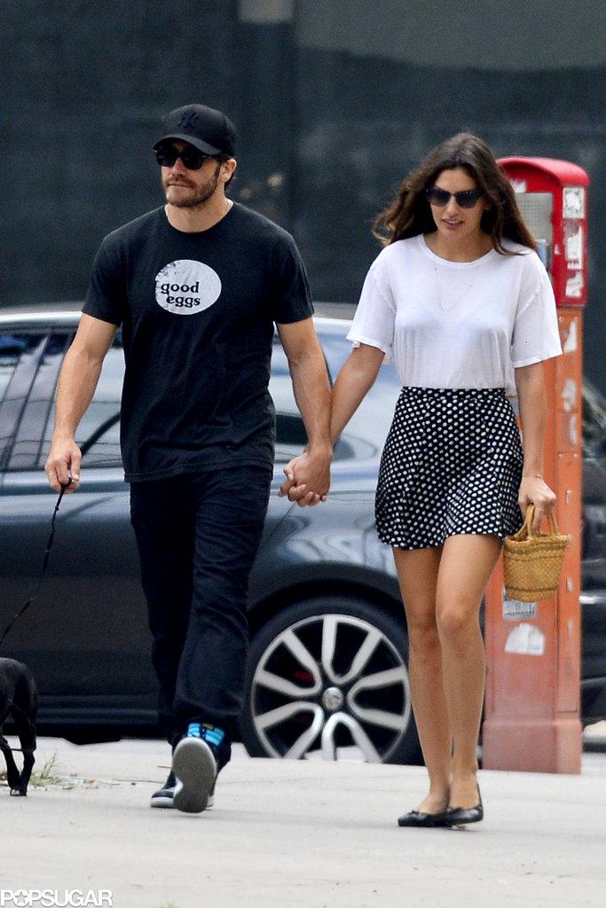 Jake Gyllenhaal and Alyssa Miller held hands in NYC.