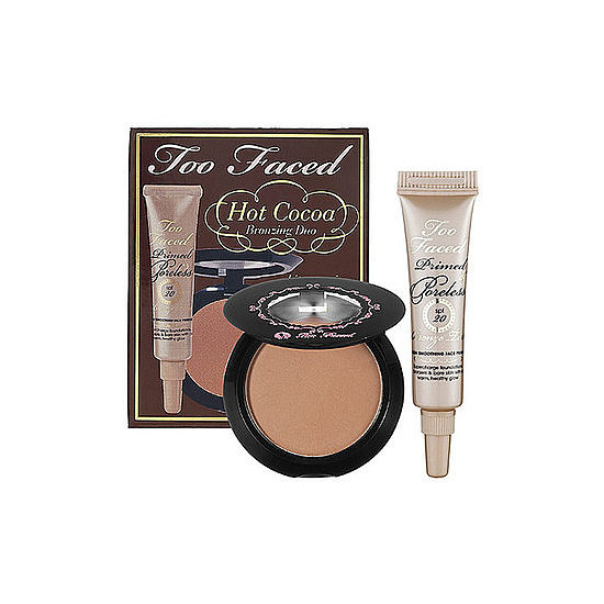 Too Faced Hot Cocoa Collection ($10) comes with a face primer along with a bronzer to create the ultimate beauty look in one step.