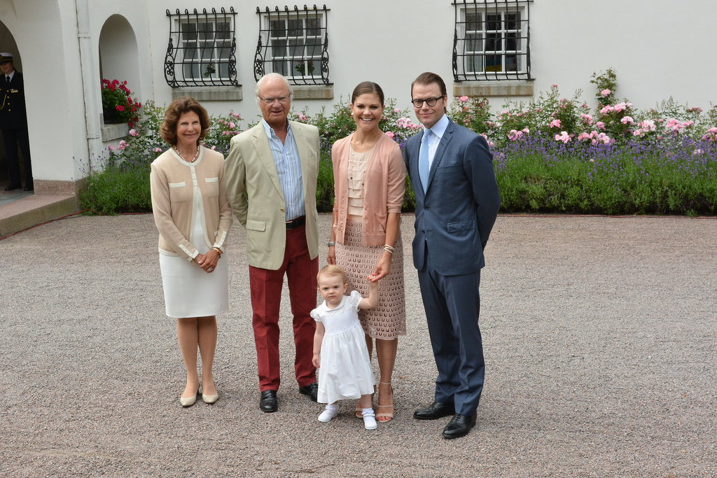 Victoria and her family were joined by her parents, the king and queen of Sweden.