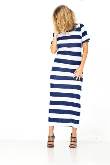 Crisp navy and white stripes make the Tee For Two T-Shirt Dress ($90) a smart investment for everyday wear.