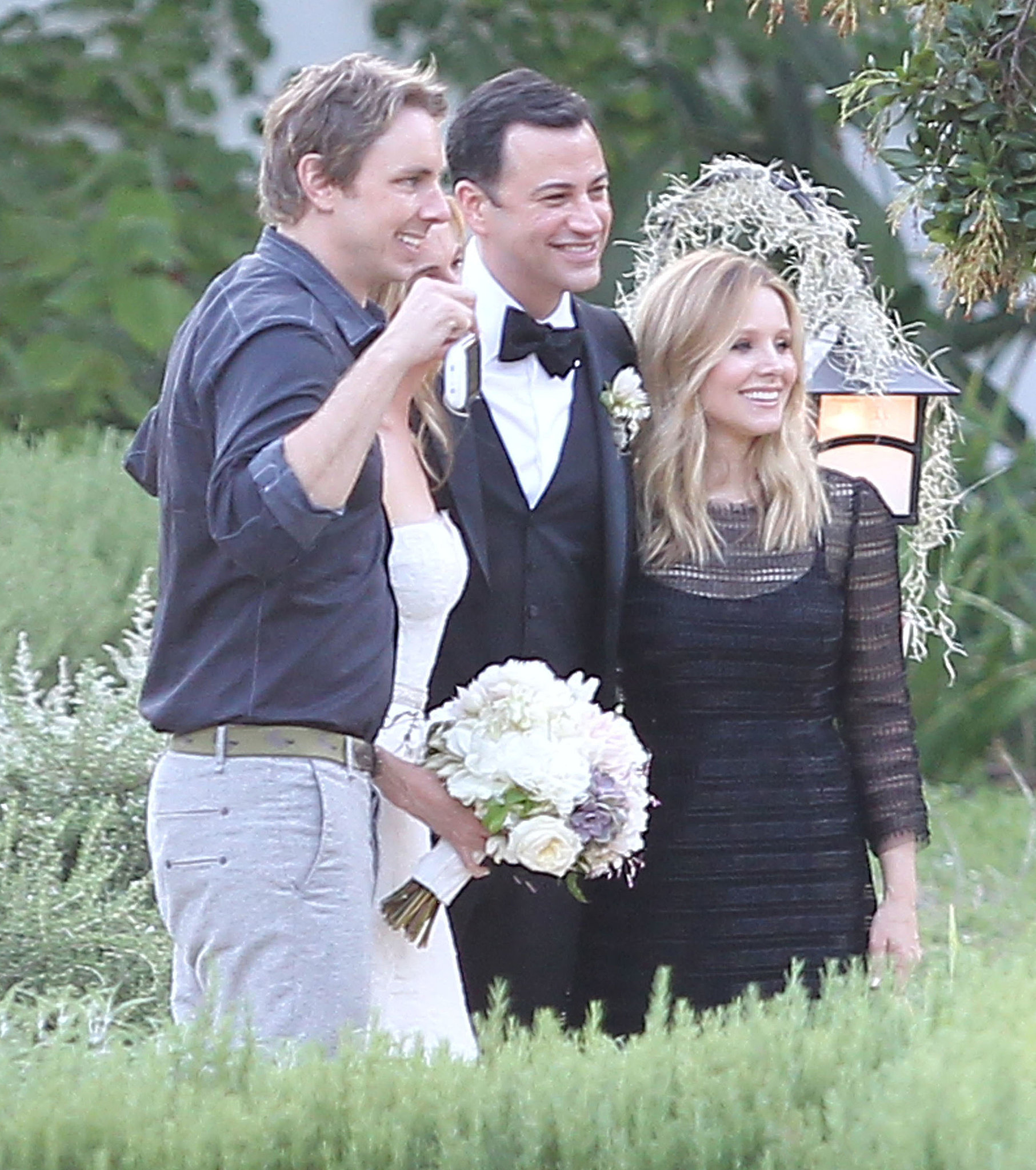 Kristen Bell and Dax Shepard posed with Jimmy Kimmel at his July 2013 wedding in Ojai, CA. If you're looking for more wedding inspiration, look no further — we've got you covered with decor, dresses, beauty, and more right here!