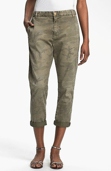 You'll live in these tomboy-feeling Current/Elliott Buddy printed twill trousers ($238).
