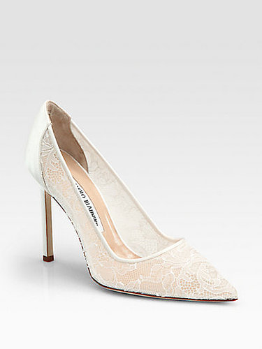Manolo Blahnik BB Lace & Satin Pumps