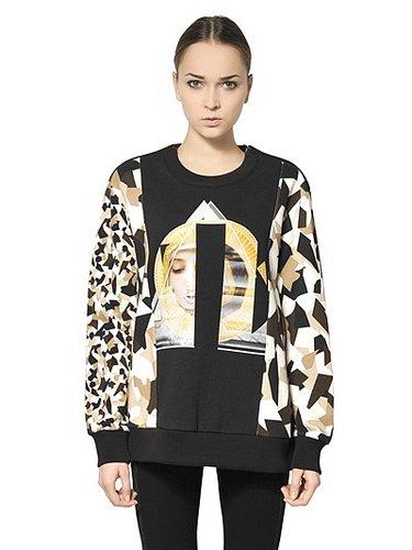 Printed Cotton Fleece Sweatshirt