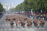 The Bastille Day parade drew crowds of people to Paris.