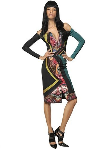 Printed Viscose Cady Dress