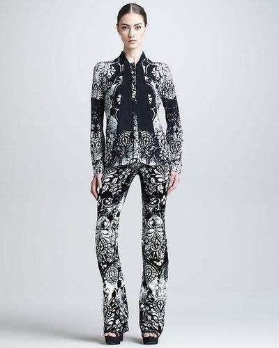Roberto Cavalli Damascus-Print Pants
