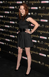 At Twilight's 2008 Madrid premiere, the actress went monochrome in a belted black fit-and-flare and coordinating pumps.