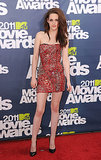For the 2011 MTV Movie Awards, Stewart rocked the tough-girl trend in a blood-red, safety-pin-adorned Balmain mini.