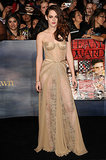 Stewart stole the show at the November 2012 premiere of Breaking Dawn Part 2 in a revealing sheer lace Zuhair Murad gown — the strapless, nude-colored dress left little to the imagination and solidified her place as a red carpet vixen.
