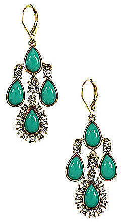 Anne Klein Turquoise Chandelier Earrings