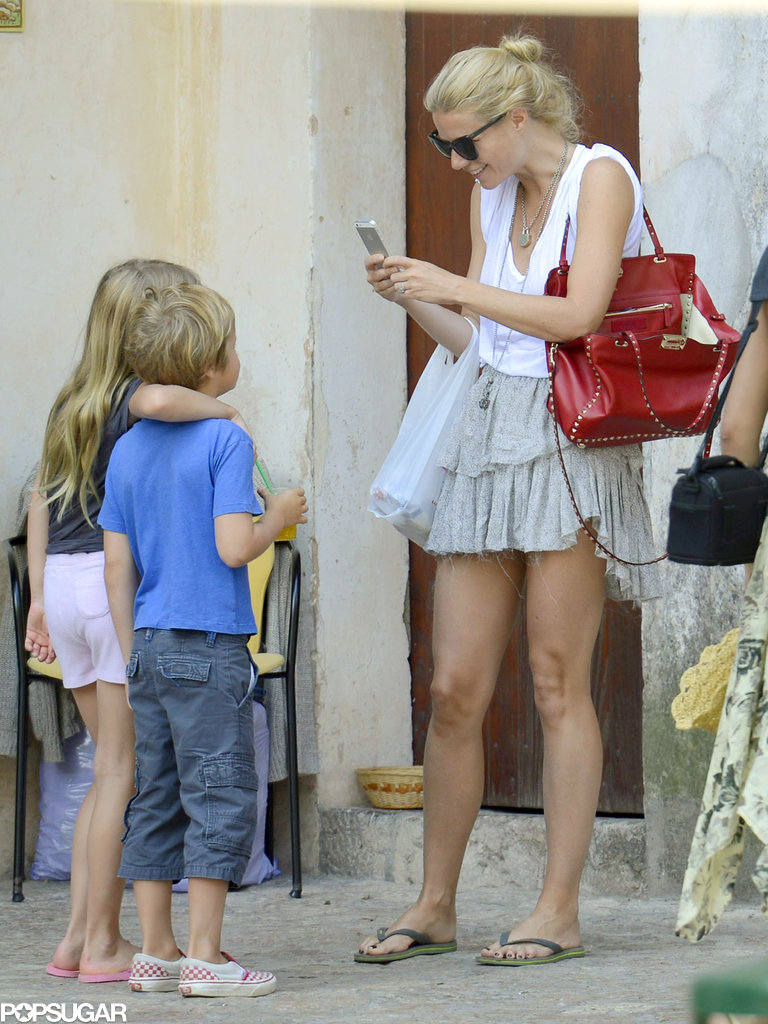Gwyneth Paltrow snapped sweet vacation photos of her kids, Apple and Moses Martin.