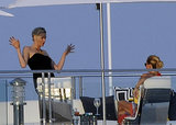 Princess Charlene of Monaco goofed around while aboard a yacht off the coast of Italy.